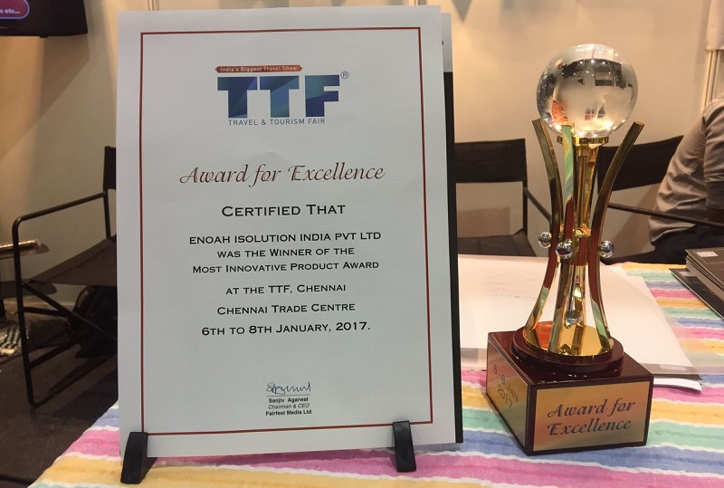 eXenia - Most Innovative Product Award in TTF Chennai