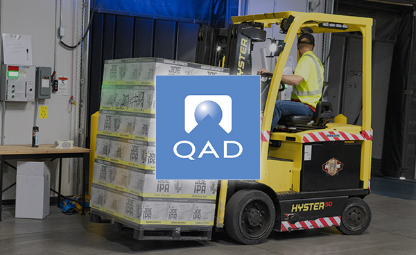 Given solution for a packaging manufacturer to control inventory using QAD